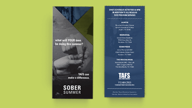 Project: Teen and Family Services Sober Summer Campaign 2016