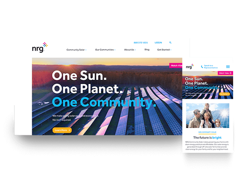 NRG Community Solar Website